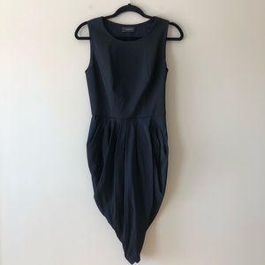Thakoon black draped bottom dress